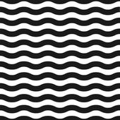 Seamless black and white wave pattern — Stock Vector