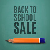 Back to school sale poster — Stock Vector