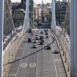 Budapest: Modern bridge on the Danube — Stock Photo