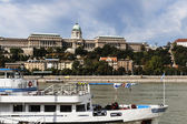Budapest Castle and Danube River — Stock Photo