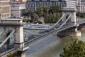 Cadena puente de budapest — Foto de Stock