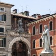 Statue of Dante Alighieri in Verona - Stock Photo