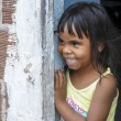 Little brazilian girl smiling - Stock Photo