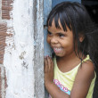Little brazilian girl smiling - Stockfoto