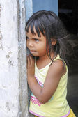 Little brazilian girl looking curious — Stock Photo