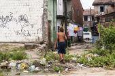 郊区的邻居的男孩 — 图库照片