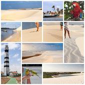 Sun, sea and sand dunes of the Lencois Maranheses in Brazil — Stock Photo