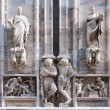Stock Photo: Statues of the Duomo, the cathedral in Milan