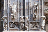 Statues of the Duomo, the cathedral in Milan — Stock Photo