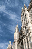 Duomo, the cathedral in Milan — Stock fotografie