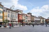 Piazza Bra in Verona — Stock Photo