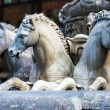 Stock Photo: Horses of Neptune fountain in Florence