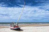 Jangada on the beach — Stock Photo