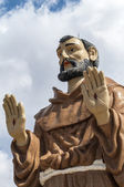 Monument to Saint Francis — Stock Photo