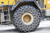 Buldozer wheel — Stock Photo