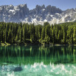 The Karersee and Latemar Dolomites — Stock Photo