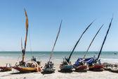 Jangadas of fishermen on the beach — Stock Photo