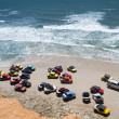 Stock Photo: Beach buggies