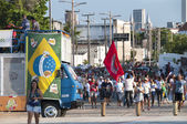 Popular protest on the day of the Independence of Brazil — Stock Photo