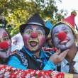 Stock Photo: Young street clowns