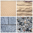 Stock Photo: Textures of stone and sand