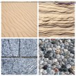 Textures of stone and sand — Stock Photo