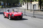 Old car in the Mille Miglia race — Foto Stock
