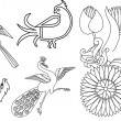 Royalty-Free Stock Vector Image: Indian bird motifs and flower symbol