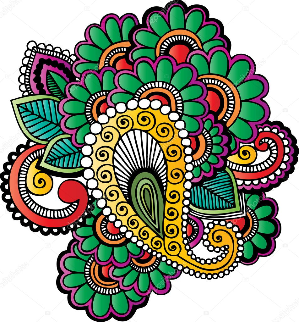 Henna Tattoo Vector: Stock Vector © Morrmota #14017813
