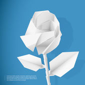 Paper rose — Stock Vector