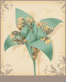 Kwiat origami. lilia — Wektor stockowy
