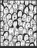 People crowd -cartoon characters — Vector de stock