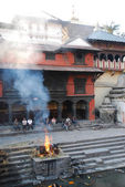 Cremation at Nepal — Stock Photo