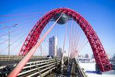 The bridge through the Moskva River in the winter — Stock Photo