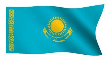 Flag of Kazakhstan — Stock Video