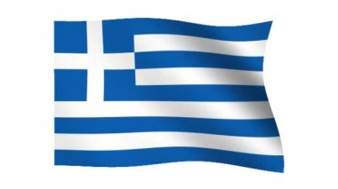 Flag of Greece — Stock Video