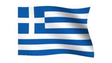 Flagga grekland — Stockvideo