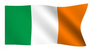 Flag of Ireland — Stockvideo