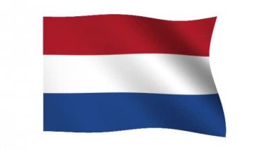 Flag of Holland — Stock Video