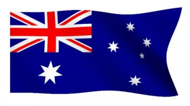 Flag of Australia — Stock Video
