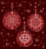 Christmas tree balls. — Stock Vector