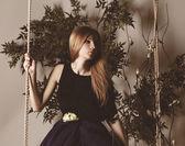 Fairy female portrait. — Stock Photo