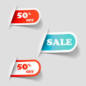 Discount tags and sale tag — Stock Vector