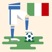 Italy, National soccer kits — Vector de stock