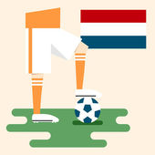Netherlands, National soccer kits — Stock Vector