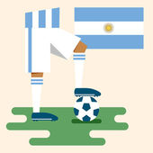 Argentina, National soccer kits — Stockvektor