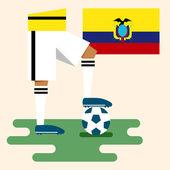 Ekvator, millî futbol takımları — Stok Vektör
