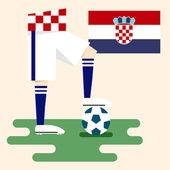 Croatia, National soccer kits — Stock Vector