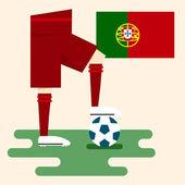 Portugal, National soccer kits — Stock Vector