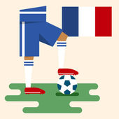 France, National soccer kits — Stock Vector